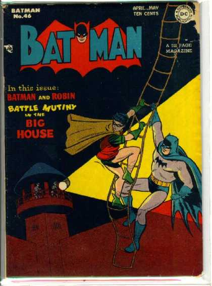 Batman 46 - Prison - Robin - Bruce Wayne - Battle Mutiny In The Big House - Dc