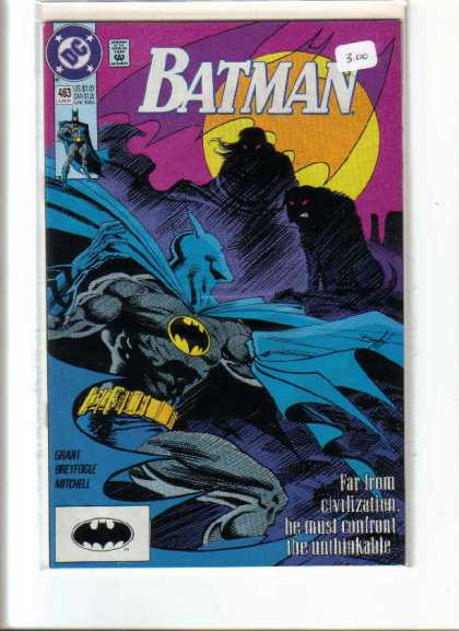 Batman 463 - Approved By The Comics Code - Moon - Far Irom Civilization - Grant - Nitohell - Norm Breyfogle