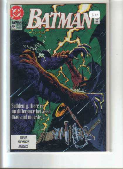 Batman 464 - Approved By The Comics Code Authority - Dc - Fight - Grant - Breyfogle - Norm Breyfogle
