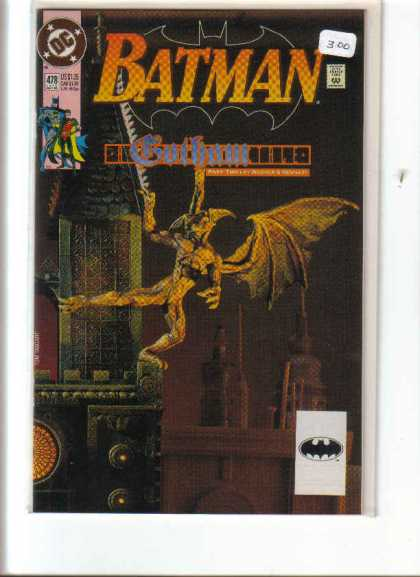 Batman 478 - Gotham - Demon - Skyline - One-leg - Balancing