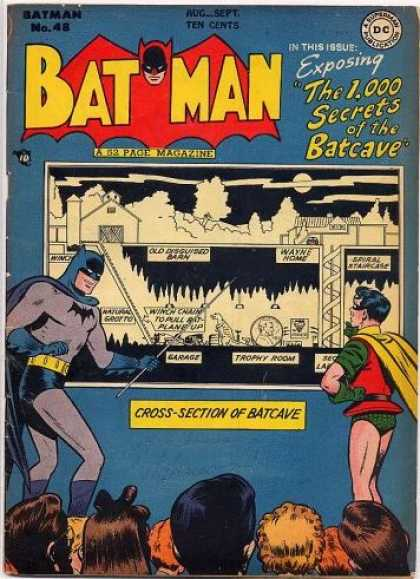 Batman 48 - The 1000 Secrets Of The Batcave - Cross-section Of The Batcave - Robin - Pointer - Audience