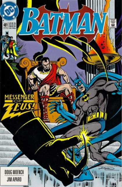 Batman 481 - Dc - Messenger - Zeus - Claw - Doug Moench - Jim Aparo