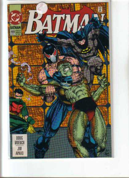 Batman 489 - Robin - Fight - Green Man - Doug Moench - Jim Aparo