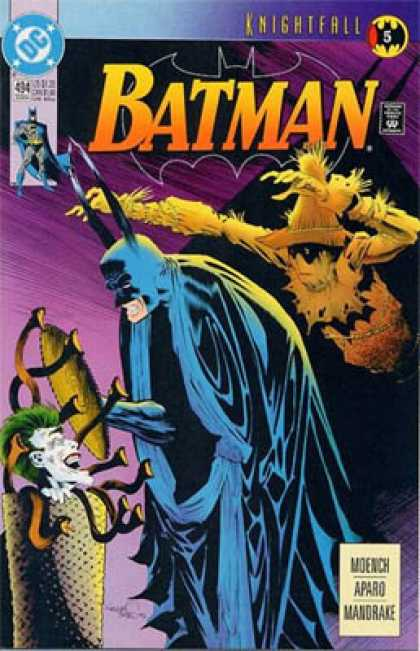 Batman 494 - Knightfall - Joker - Superhero - Moench Aparo Mandrake - Fight