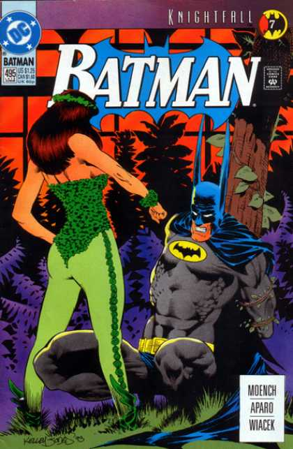 Batman 495 - Poison Ivy - Bat - Vines - Green - Black Knight