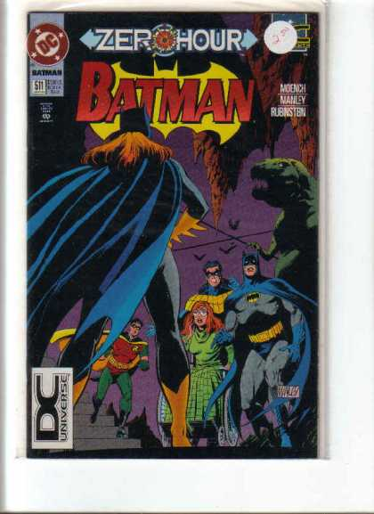 Batman 511 - Zero Hour - Dinosaur - Rubinstein - Manley - Moench - Mike Manley
