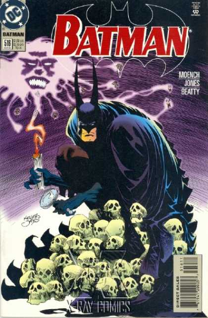 Batman 516 - Dc Comics - Moench Jones Beatty - Candle - Skulls - X-ray