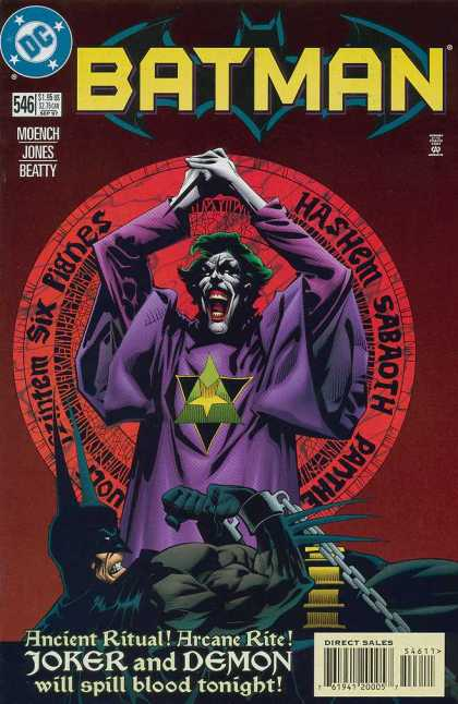 Batman 546 - No 546 - Joker - Pentagram - Knife - Ritual
