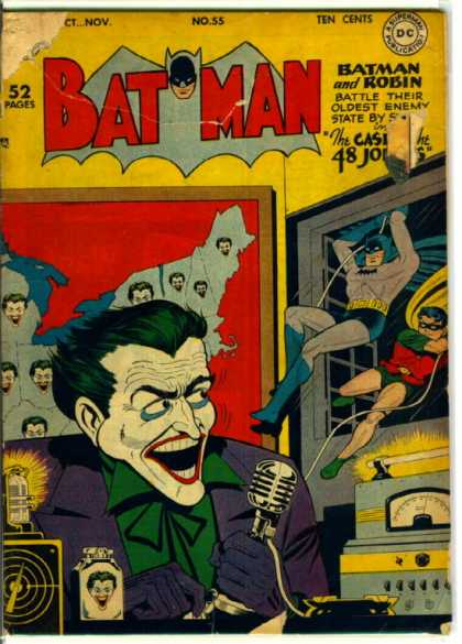 Batman 55 - Joker - Robin - Map - Dc - Golden Age