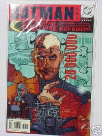 Batman 605 - Puzzle - Code - Woman - Blond Man - Dead Guy