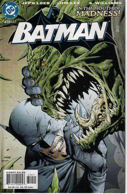 Batman 610 - Jeph Loeb - Jim Lee - S Williams - Direct Sales - Madness - Alex Sinclair, Jim Lee