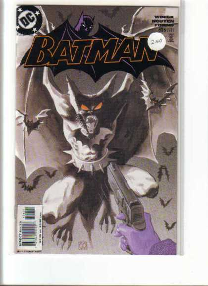 Batman 626 - Black And White - Bats - Red Eyes - Fangs - Wings - Matt Wagner