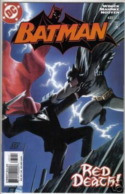 Batman 635 - Lightning - Red Cape - Red Death - Winick Mahnke Nguyen - Knife - Matt Wagner
