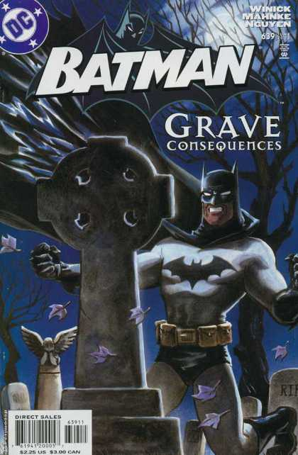 Batman 639 - Batman - Grave Consequences - Dc Comics - Graveyard - Cross Headstone - Matt Wagner