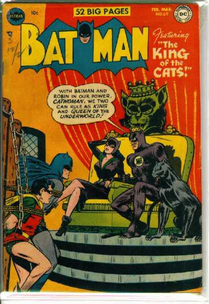 Batman 69 - Throne - Superhero - Speech Bubble - Robin - The King Of The Cats