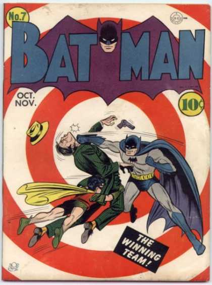 Batman 7 - Punch - Team - Winning - Fight - Bullseye - Bob Kane