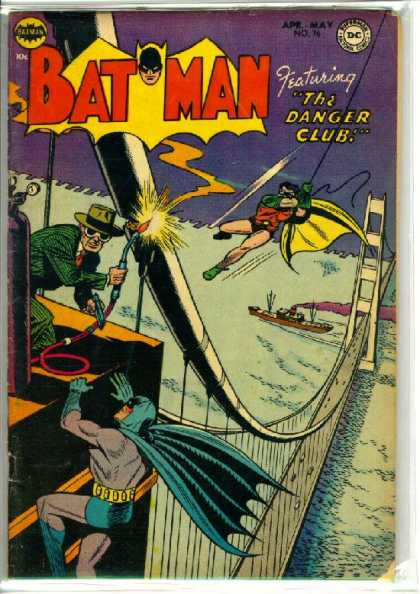 Batman 76 - Danger Club - Bridge - Boat - Sabotoge - Robin