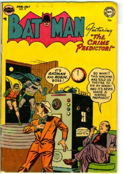 Batman 77 - The Crime Predictor - No 77 - Killing Machine - Yellow Room - Criminal