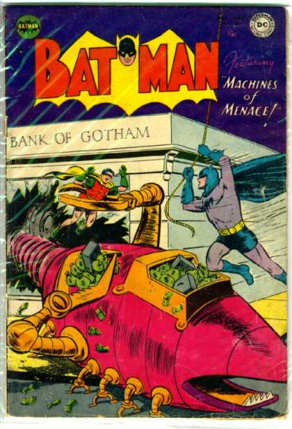 Batman 80 - Dc - Dc Comics - Robin - Bank - Machines Of Menace