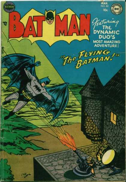 Batman 82 - The Flying Batman - Dc Comics - Number 82 - Spotlight - Cannon