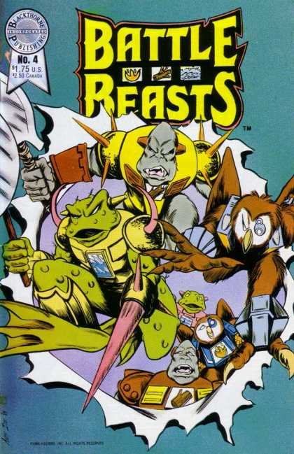 Battle Beasts 4 - Webbed Feet - Horned Armour - Frog Faces - Claws - Beaks