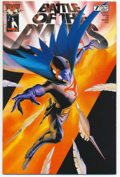 Battle of the Planets 7 - Cape - Gloves - Feathers - Superhero - Helmet - Alex Ross