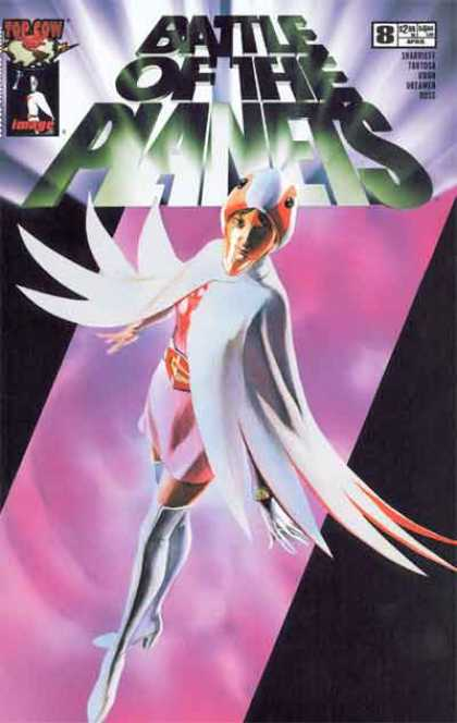Battle of the Planets 8 - Planets - Top Cow - Saviour Woman - Battle - White Boots - Alex Ross