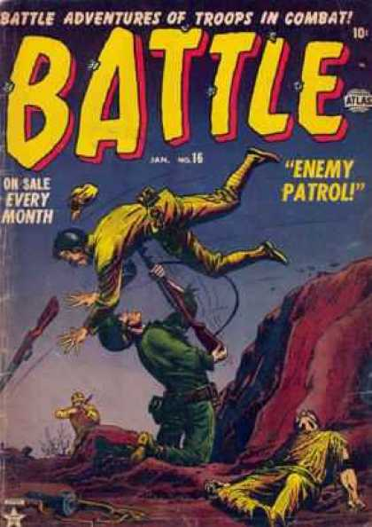 Battle 16 - Bayonette - Enemy Patrol - Issue 16 - Dead Soldier - Trench