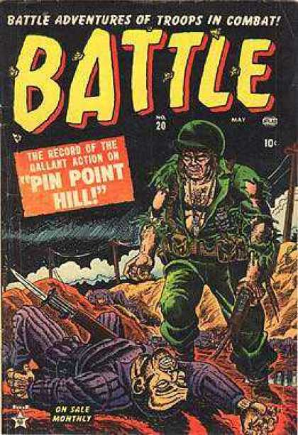 Battle 20 - Pin Point Hill - 20 - 10 Cent - Troops In Combat - Ballant Action