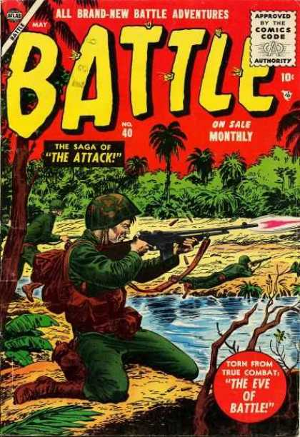 Battle 40 - The Saga Of The Attack - Soldiers - Guns - River - The Eve Of Battle