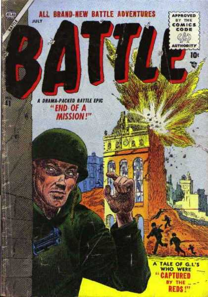 Battle 41 - When Gis Fight Back - The Red Coats Are Coming - Comic Code Approved - 10c Masterpiece - Fighting Back