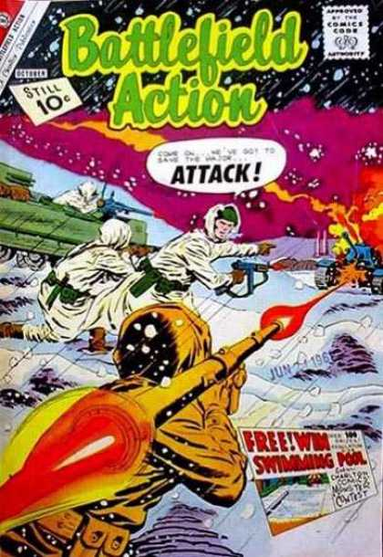 Battlefield Action 38 - Attack - Guns - Astronauts - Win Swimming Pool - Tank