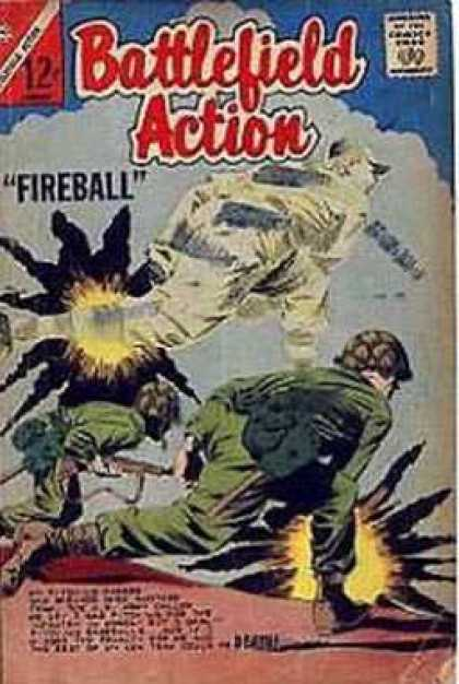 Battlefield Action 51 - Fire Ball - Attack - Military - Sports - Warrior
