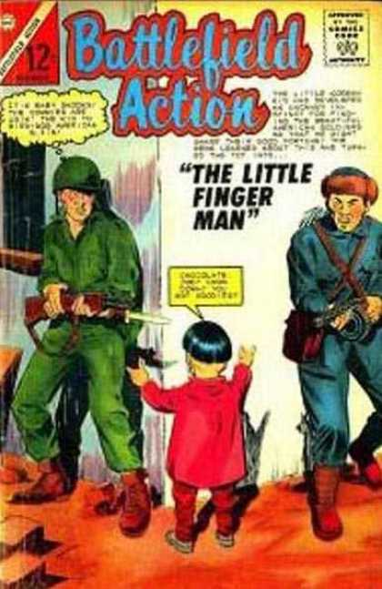 Battlefield Action 55 - The Little Finger Man - Soldier - Comics Code - Chocolate - Baby