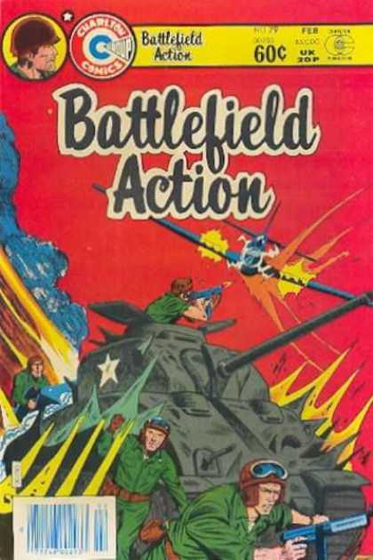 Battlefield Action 79 - Tank - Gunman - Airplane - Army Ment - Red