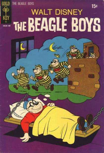 Beagle Boys 12 - Disney Comics - Criminals Escaping - Dreaming Of Escape - Beagles - Jail Dreaming