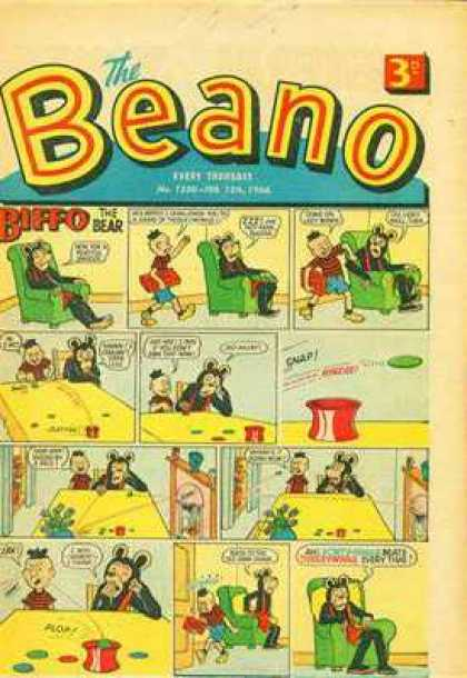 Beano 1230 - Bear - Easy Chair - Table - Tiddly-winks - Boy