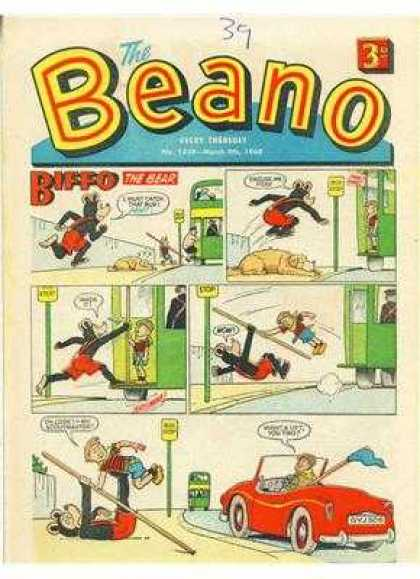 Beano 1338 - Biffo - Car - Bus - Sign - Dog