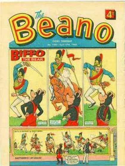 Beano 1345 - Bear - Horse - Spear - Pennant - Grass