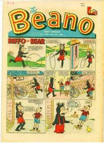 Beano 1346 - Biffo The Bear - Hoop - Toy - Bike - Comic Strip