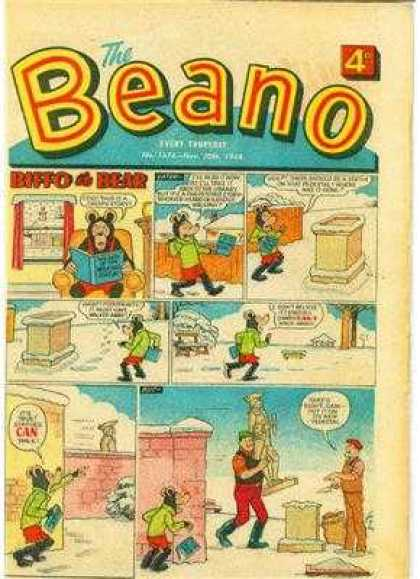 Beano 1376 - Bear - Window - Book - Snow - Statue