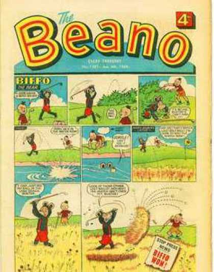 Beano 1381 - Biffo - Golf - Red Jumper - Biffo Won - 4