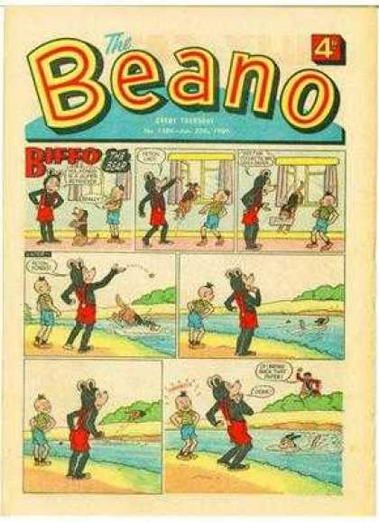 Beano 1384 - Water - Boy - Dog - Bear - Trees