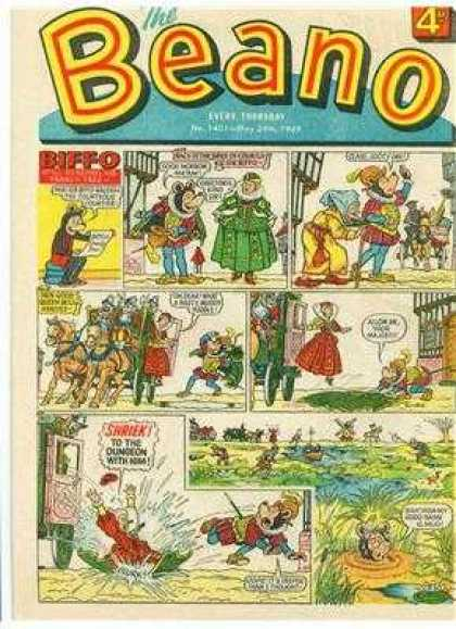 Beano 1401 - Horse - Princess - Grass - Mouse - People