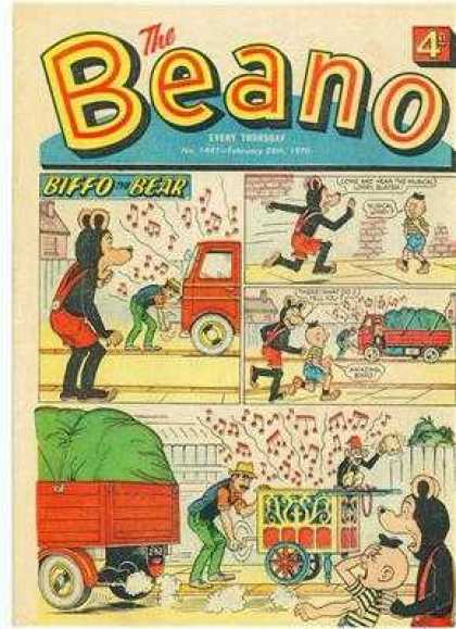 Beano 1441 - Biffo The Bear - Organ Grinder - Truck - Monkey - Music Notes