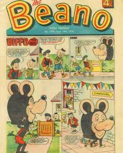 Beano 1470 - Mouse - Walking - Carnival - Diffo - Smiles