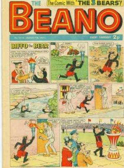 Beano 1516 - Biffo The Bear - Fire - Grass - Door - River