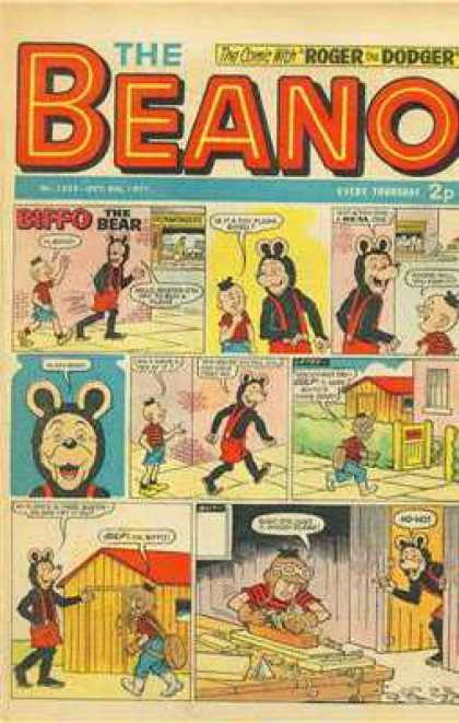 Beano 1525 - Biffo - The Bear - Sidewalk - Roger - Overalls