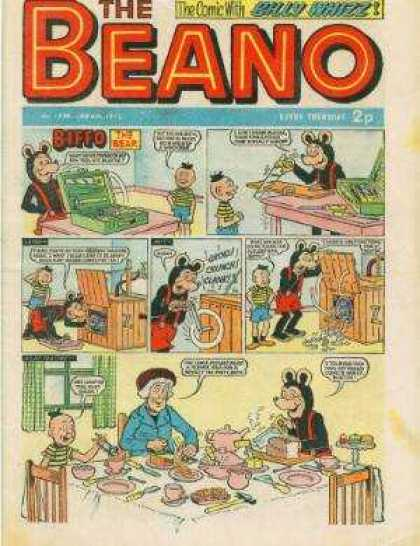 Beano 1538 - Bully Whitz - Biffo - Bear - Boy - Table