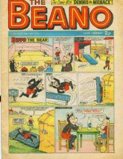 Beano 1539 - Dennis The Menace - Bear - Biffo - Car - Table